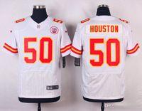 Wholesale 50 Houston New Arrivals Men Chiefs White Elite Stitched Jerseys Free Drop Shipping lymmia Mix order