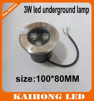 Wholesale W LED underground light IP68 Buried recessed floor outdoor lamp Plaza lights DC12V or AC85 V CE ROHS by