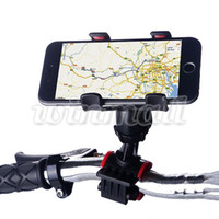 bicycle map holder - Universal Degree Rotating Bike Phone Support Bicycle Mount Bracket Cradle Holder Dual Clip For Iphone Maps GPS Navigation