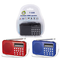 Wholesale USB TF card MP3 Player FM Radio REC LED Digital speaker For The Aged Old Parents