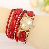alloy chain slings - 2016 Summer Fashion Latest Popular Women Rhinestone Watch Full Diamond Charm Long Leather Sling Chain Quartz Watches Women Wristwatch