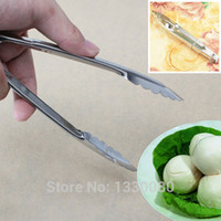 Wholesale Stainless Steel Tongs With Lock Design Grip For Kitchen Food E5M1 order lt no track