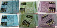 asian chopsticks - 7 Colours Asian Handmade Dinner Sets Silk Flower Patterns Placemats Chopsticks