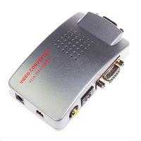 VGA vers AV Composite Convertisseur RCA S-video Signal Adapter Switch Box PC vers TV NOUVEAU