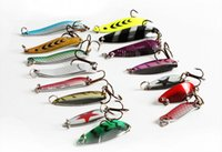 Wholesale Hot Spinners Fishing Lure Mixed color Size Weight Metal Spoon Lures hard bait fishing tackle Atificial