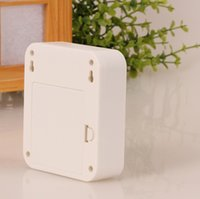 Wholesale Thin plug nightlights V Creative foot lamp intelligent light control body infrared induction led night light square loaded battery