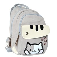 Wholesale Neko Atsume Cat Student School Backpack Kawaii Shoulder Messenger Bag