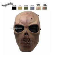 Wholesale Outdoor Shooting Sports Equipment Face Protection Airsoft Gear Full Face Tactical Airsoft Horror Gost Skull Mask