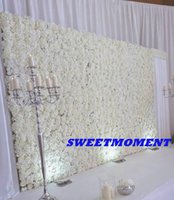 Wholesale Luxury Wedding Flower Wall White Rose Flower Backdrop m high x2 m feet x7 feet