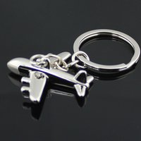 airline jewelry - ashion Jewelry Key Chains Civil Airline Plane Keychain Fashion Polished Silver Aircraft Airplane Model Metal Key Chain Ring Keyfob Keyrin