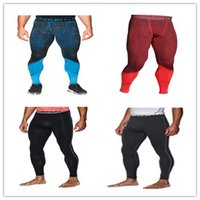 Wholesale GOOD Leggins Tights gym Armour top quality pants Under outdoor running High Elastic quick drying sports pant for men
