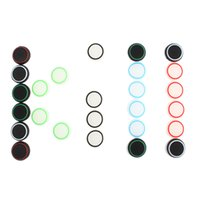 Wholesale 2 Pairs Silicone colorful Cap Thumb Stick Joystick Grip for PS4 Controller