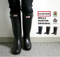 Wholesale Factory Outlets Hunter Boots Women Wellies Rainboots Ms Glossy Hunter Wellington Rain Boots Wellington Knee Boots Fast Delivery DHL free