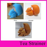 beauty mug - 2016 High Quality Cute Squirrel Shape Tea Infuser Loose Leaf Strainer Bag Mug Filter Health Slimming beauty