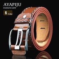 Wholesale 2016 classic fashionl mens belts key luxury hot designer belts men high quality genuine leather ff belt MC belts for men with ff