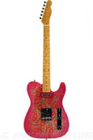 Wholesale Masterbuilt Paul Waller Pink Paisley Solid Body String Relic Electric Guitar Right Handed