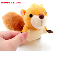 Wholesale Kawaii Random Colors CM Squirrel Keychain Key Ring TOY DOLL Sucker DOLL Plush Stuffed TOY Wedding Bouquet Pendant TOY