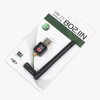 Wholesale 100Pcs Mini M USB Wireless Networking Card LAN Adapter With DB Antenna MT7601 With Retail Box