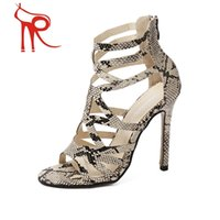 snake print shoes - 2016 summer is coming the new Rome style Europe Star with a snake skin stiletto shoes dress shoes