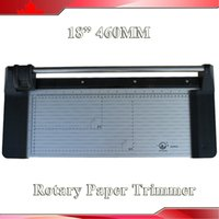 "Cheap Wholesale-Brand NEW Portable 18"" 460MM Manual Rotary Pro Paper PVC Cutter Trimmer"