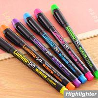 Wholesale 48 Highlighter pen Lumina drawing Markers DIY scrapbooking tools canetas escolar office material School supplies