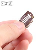 Wholesale Brown Size cm cm cm Optional Metal Hair Snap Clips I Snap Clips for Hair Extensions Hair Accessores Tools
