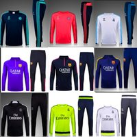 best men s suits - Best Thai quality Manchester encounter real Madrid Atletico PSG Manchester Manchester city jerseys Men Training suit blue bl