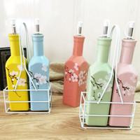 Wholesale 2016 HOT oz Ceramic Hip Flasks Recyclable Liqu Container Olive Oil Vinegar batcher Can Bottle Pot Kitchen Cook Tools