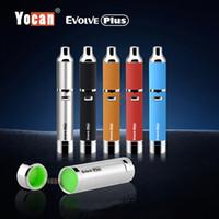 al por mayor cera de cuarzo-Los kits más nuevos del cigarrillo de E Yocan desarrollan más los kits de la pluma del vaporizador de la cera del kit con la batería dual de la bobina 1100mAh del cuarzo adicional 5 colores 100% original