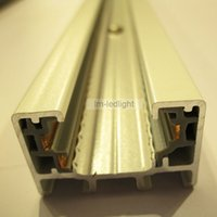 Wholesale universal wire Track rail meter in white and black aluminum rail for LED exhibition lights free ship