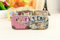Wholesale NEW ARRIVAL creative hot style mini suitcase mini suitcase Sweet box of metal crafts household storage box six colors drop shipping