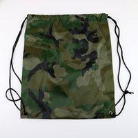 backpack shopping bag - 100pcs New Drawstring polyest fabric Tote bags waterproof Backpack folding bags Marketing Promotion drawstring shoulder bag shopping bags
