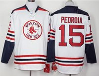 baseball jersey size chart - long sleeves BOSTON RED SOX David ORTIZ Dustin PEDROIA white jerseys please read size chart before order