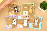 Wholesale Hot sale kawaii stationery cat sticky memo pad cute animal sticky note office post it note scrapbook sticke cute Sticky Notes