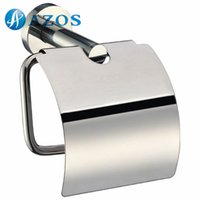 Wholesale AZOS Wall Mounted Toilet Paper Holders Bathroom Accessories Shower Hardware Components Chrome Polished Finish Silver Color GJKE3405L