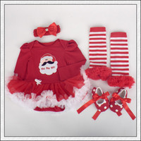 clothes and shoes - Baby Girl Clothes Kids Infant Toddler Christmas Outfits Sets Lace Romper Dress Tutu Skirt Pettiskirt Bow Headband Leggings Shoes