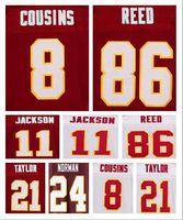Wholesale Best quality jersey Men s Kirk Cousins Reed Josh Norman DeSean Jackson Sean Taylor elite jerseys Size