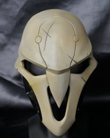 Wholesale 2016 Hot Scary Halloween Party BLEACH Dead Masks Hot Reaper Mask Soldier Watch pioneer death Helmet Movie Costumes cosply