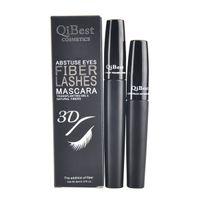 Wholesale DHL New Mascara QiBest D Fiber Lashes Mascara Cosmetics Mascara Black Double Mascara Set Makeup Lash Eyelash Waterproof set