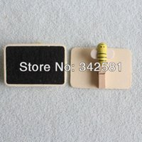 baby shower clips - 100pcs Wooden Small Rectangle Blackboard Clip Peg With Honey Bee CHALKBOARD For Wedding Party Decoration Baby Shower Party