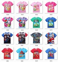 batman t shirt for girls - 2016 New High Quality Children Cartoon t shirts batman birds Dinosaur ice age printed summer Short sleeve tees top for Boys girls T
