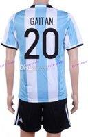 argentina soccer jerseys cheap - customized argentina marcos rojo soccer jersey sets discount cheap otamendi dybala uniforms cheap lavezzi football wear_