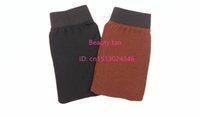 Wholesale Exfoliating mitt Tan eraser Bath glove used for pre tanning care to remove dead skin
