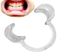 Wholesale Christmas game C Type Autoclavable Dental Mouth Opener Teeth Whitening Cheek Retractors Dentistry for Speak Out Game fast shipping