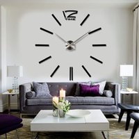 best plastic adhesive - 3D Best Home Decoration DIY Wall Clock Unique Large Stickers Self Adhesive Decor Modern Wall Clocks Digit Number