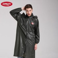 acid rain - Thousands of rain raincoat thick clothing Siamese adult site long with acid and alkali in the green coat wear