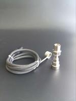 al por mayor xlr clavijás-Enail Calentador de la bobina 5.9inches 16m m 110V 100W 240V 5 Pin XLR Macho Plug Thermocouple del calentador de la bobina para el sistema del clavo de E DIY con el clavo titanium de 16m m