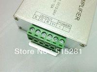 Wholesale Led RGB Amplifier Controller input12V V A Signal Repeater Watt for RGB Led strip Alu box QLY