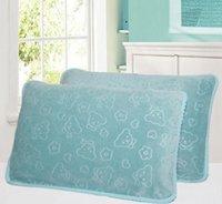baby bath pillow - Pillow towel Single pillow towel Children s baby pillow towel couple pillow towel soft cartoon pillow towel
