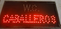 Wholesale Led hot sale X19 inch indoor Ultra Bright running WC Neon light sign led display